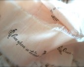 Stamped Pink Wedding Storybook Ribbon Once Upon A Time Tea Stained 1 Yard