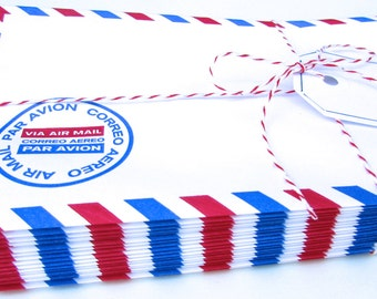1 Set of 21 Specialty Air Mail Envelopes