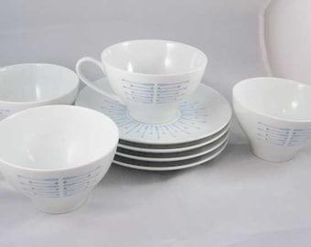 Noritake Carillon Teacups/Saucers(8pcs) Circa 1960's