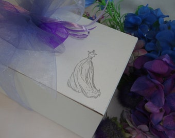 Wine Glass Gift Boxes  - Personalized to Match Your Wedding Colors