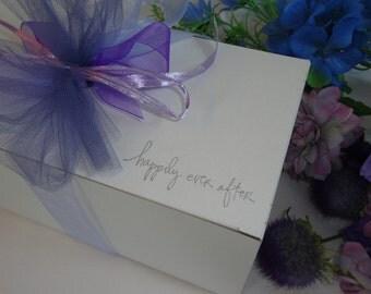 Wine Glass Gift Boxes, White Gift Box, Champagne Gift Boxes, Wine Glass Gift Wrap, PICK Your Weding Design & Ribbon Color, Mason Jar Box