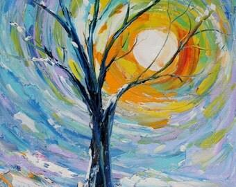 Fine art Print 16 x 20 from oil painting Winter Poetry by Karen Tarlton