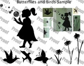 Little Girl Decal Set