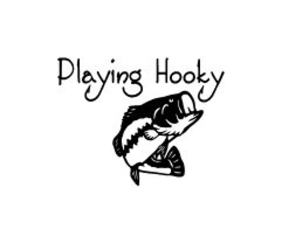 Playing Hooky Fishing Car Vinyl Decal
