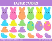 Easter Candies Clipart - Digital Clip Art Graphics for Personal or Commercial Use