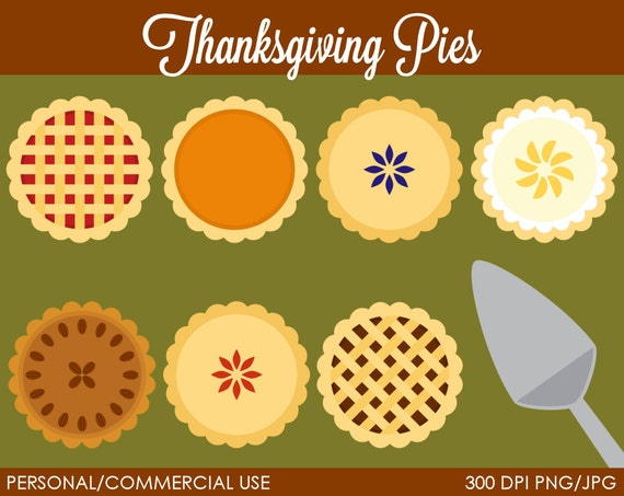Thanksgiving Pies Clipart - Digital Clip Art Graphics for Personal or Commercial Use
