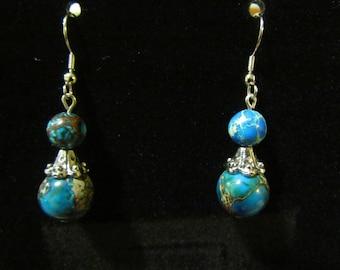 Turquoise Sphere Earrings