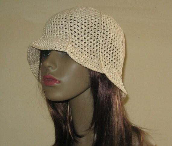 Items similar to PDF Crochet Pattern - Summer Cloche Hat ...