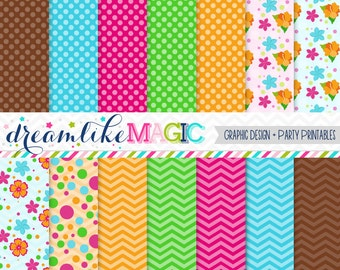 Luau Party- Digital Paper Pack for Personal or Commercial Use