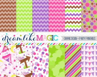 Glam Camping Paper Pack for Personal or Commercial Use