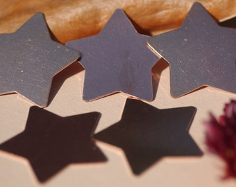 Copper Star 24g 30mm Cutout for Blank  Enameling Stamping Texturing Soldering Blanks