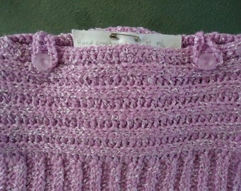 Crocheted Baby Girl Sweater / Toddler Girl Sweater in Lilac - Clearance Sale