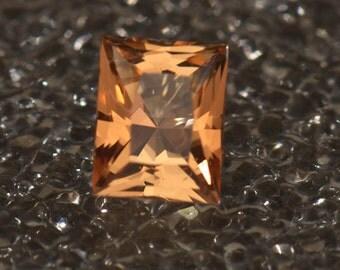 Imperial Topaz Retanglur Princess Cut 7.25 x 5.85 1.78 carats Grade AAA