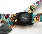 Camera Strap with Lens Cap Holder- You pick the strap style