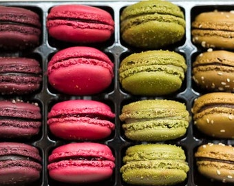 Kitchen Print, French Macarons, Paris Photography, Colorful, Kitchen Art, Cookies, Kitchen Wall Art, Paris Wall Decor