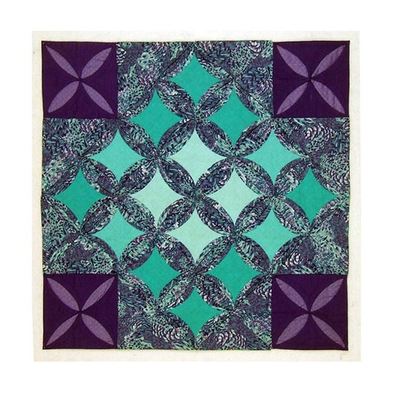 Cathedral Window Quilt Wall Hanging Secret By Lmoarttextiles