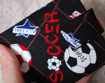 Men or Boys super thin wallet - soccer fan - coin pocket  FREE SHIPPING