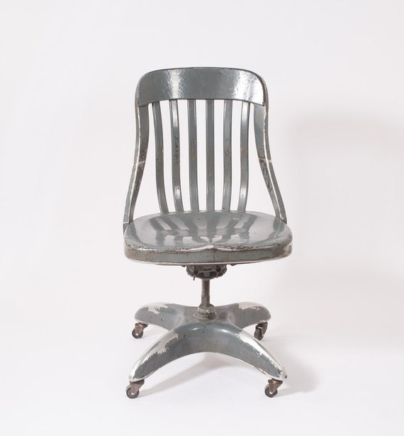 Vintage 1950 39 S Industrial Metal Chair Eames Era By Fallaloft