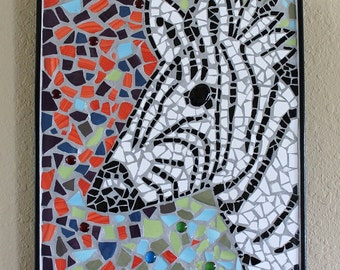Mosaic Original Zebra Wall Art Hanging