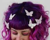 Butterfly Hair Adornments, Floating Hair Accessory, Glitter- Black FRiday Cyber Monday