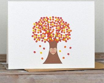 Fall Wedding, Thank You Cards, Autumn Weddings, Trees, Wedding Thank You Cards, Fall Wedding Cards, Autumn Wedding Thank You Cards