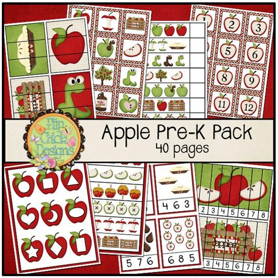 Apple Pre-K Printable Pack