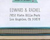 Rubber Address Stamp - Typwriter - House warming - Eco Mount LetterSmith 1