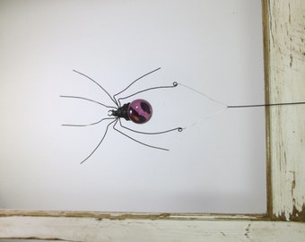 Lavendar Sun Catcher Window Spider Hanging Art, Made to Order
