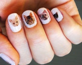 Cat Nail Decals