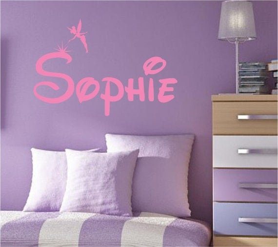 Fairy Wall Decal Custom Personalized Name Vinyl Wall Art - Custom vinyl wall decals disney