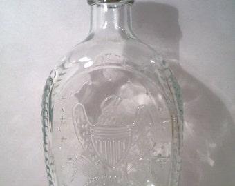 Vintage Log Cabin Syrup 1976 Bicentenniel Commemorative Bottle