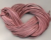 1.8 mm Leather Cord  Metallic Pink 25 meter Hank