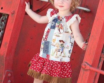 Peasant Dress Kaleidoscope Pattern Sizes 12m -14 pdf INSTANT DOWNLOAD