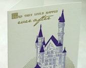 SALE - Letterpress Marriage card - Ever After - 60% off