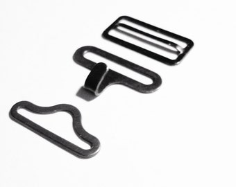 BOW TIE HARDWARE Bowtie Hardware 24 Sets Adjustable Bowtie Necktie Clips Hardware Hook Eye Slide  3/4 Inch