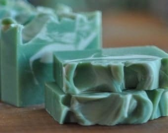 Spearmint Eucalyptus Soap -  Vegan Soap Handmade - Natural Essential Oils