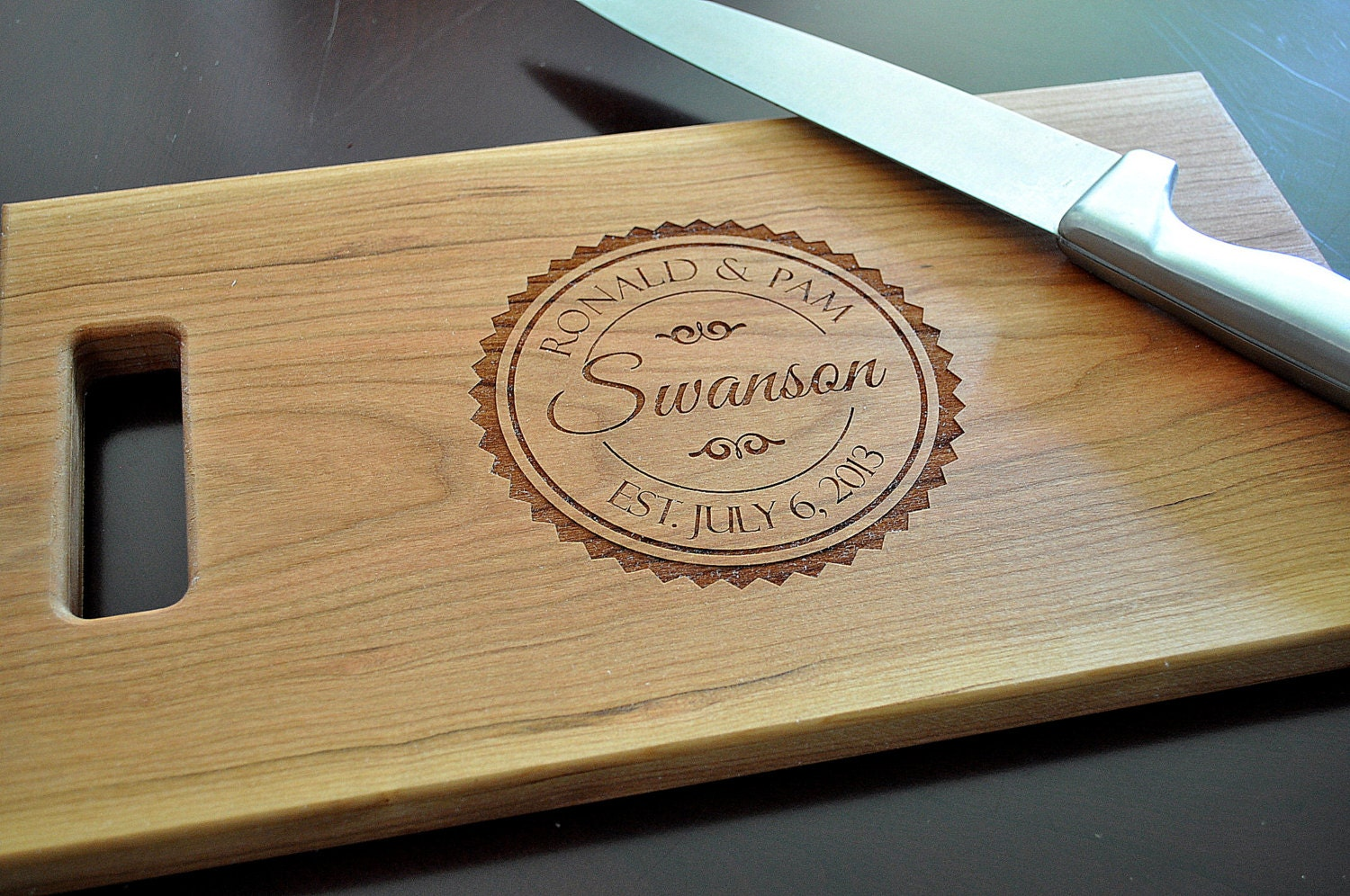 Cutting Board Personalized Chopping Block Laser Engraved 8x14