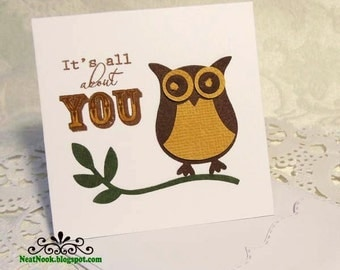 Owl It's All About You Mini Card Tags & Envelopes 4 Set 3x3