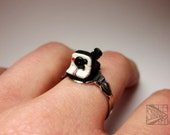 Miniature Polaroid Camera Ring