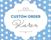 Custom Listing - For Karen P. Only - 120 Quantity - White- Yum a Treat Favor Bags