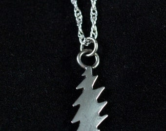 13 Point Bolt Silver Necklace
