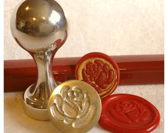 Rose Design Wax Seal Stamp