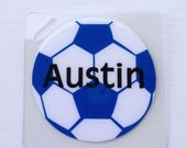Soccer Bag Tag Soccer Party Favor Soccer Mom Gift  Girls Scoccer Tag Boys Scoccer Tag Kids Bag Tag Sports Bag Tag