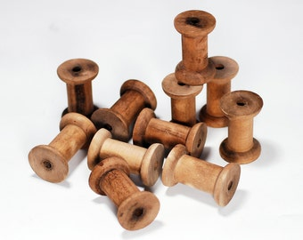 20 Wooden Bobbins / Spools - DIY, Organize and Decorate your workspace