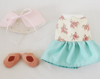 Doll Dress Sewing Pattern Toy Clothing PDF - Retro Girl Clothes Set