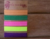 the ponies- 5 neon hair tie/bracelets