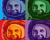 Special order for Rachel - Yuri Gagarin Pop art print