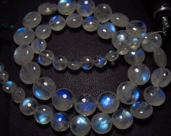 AAA - High Quality So Gorgeous - Rainbow Moonstone - Smooth Polished Coin Briolett Full Blue Fire Clear size 4 - 8 mm -51 pcs