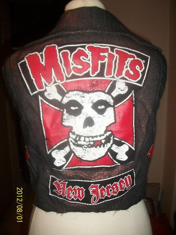 MISFITS vest biker vest xs s m