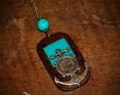 Anchor & Clock Neckalce
